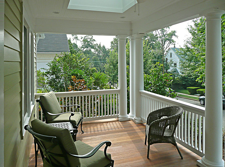 Porch, Chevy Chase Sears home renovation by The Kurylas Studio