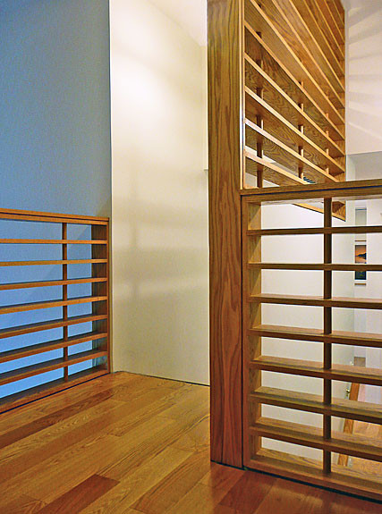 Wood Screens and Railing by The Kurylas Studio