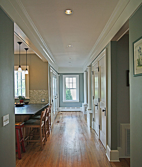 Hall, Chevy Chase Sears home renovation by The Kurylas Studio